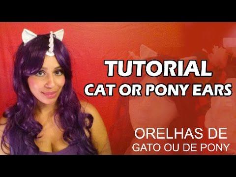 TUTORIAL: Orelha de Gato ou Pony pra #Cosplay 🐱  #Nekomimi #Lolita  🐱 HSAMABLOG