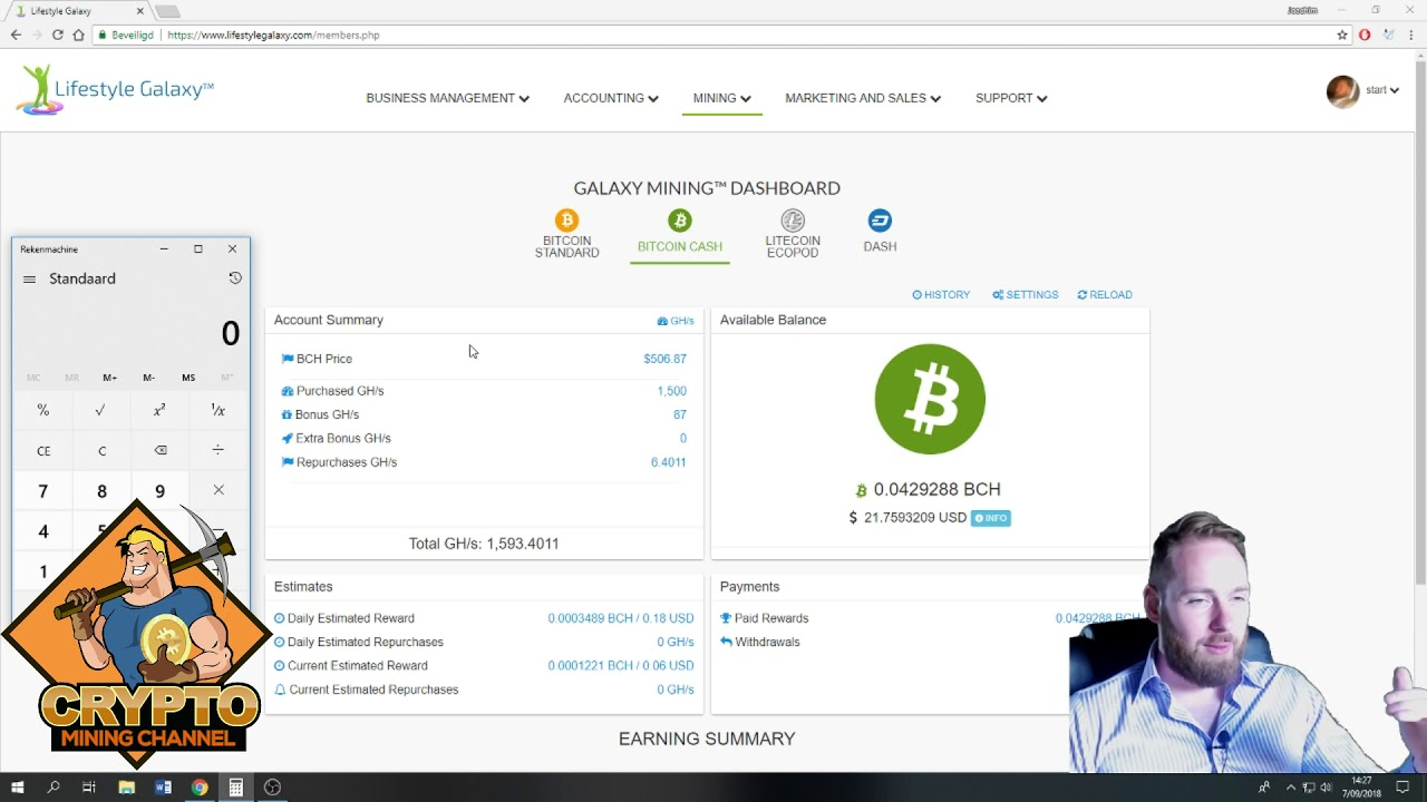 Bitcoin & Bitcoin Cash Mining in September 2018 W1 | BTC  BCH Mining Profits